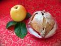 Творожные платочки с яблоком